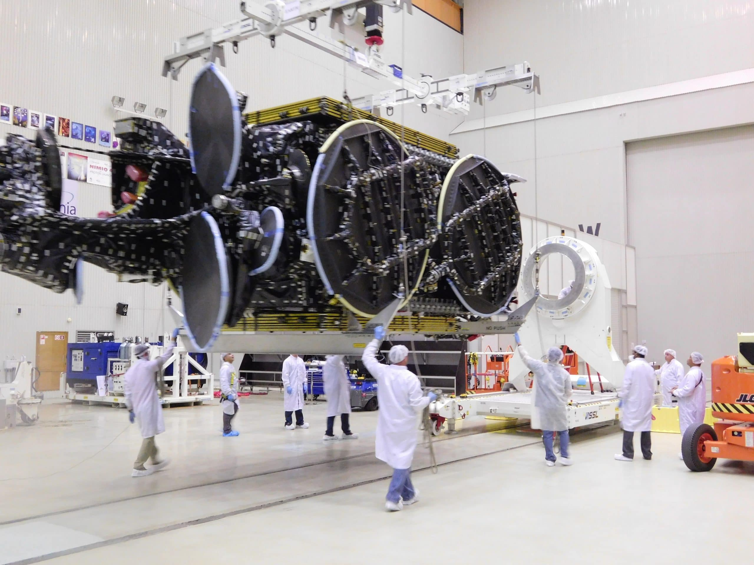 Moving spacecraft to Hall 103