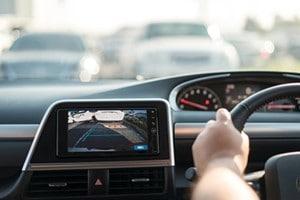 car dashboard with camera