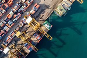 cargo port arial photo
