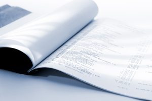 photo of a financial report
