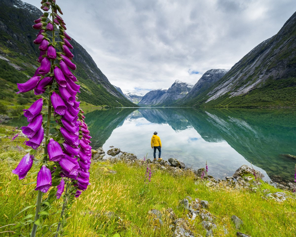 person-by-lake-environment