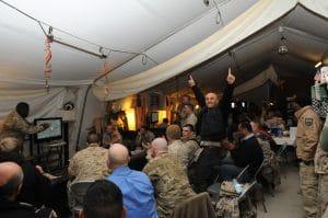Troops watch Super Bowl XLVI in Afghanistan