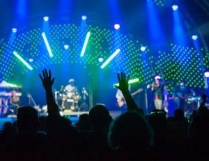 crowd attending a concert
