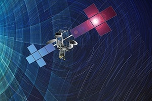 Intelsat 20 satellite color rendering