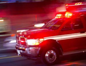 emergency vehicle on call