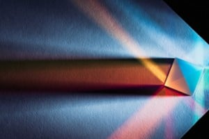 abstract of spectrum through a prism