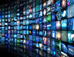 wall of tv monitors