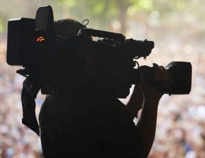 camera man filming event